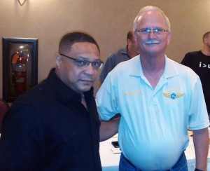 LOGMET Shop Steward Gregory Coleman and District 4 Assistant Directing Business Representative Rick Compher